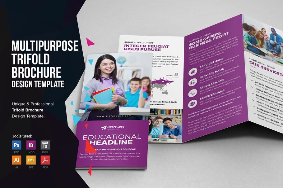 Multipurpose Trifold Brochure Design