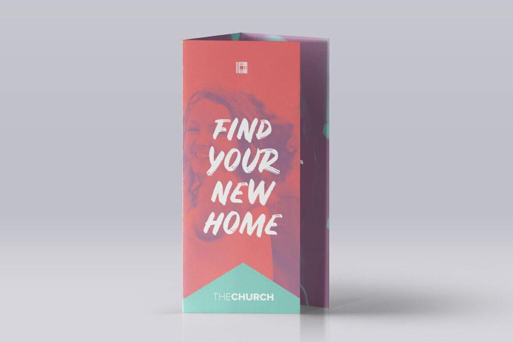 New Home Church Trifold Brochure
