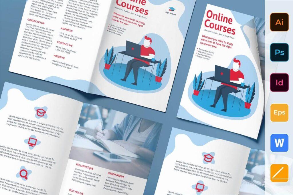 Online Courses Brochure Bifold