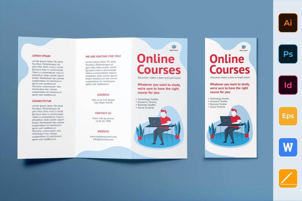 Online Courses Brochure Trifold
