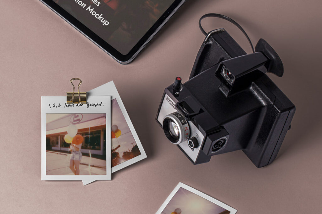 Free Polaroid Frames Mockup Set PSD