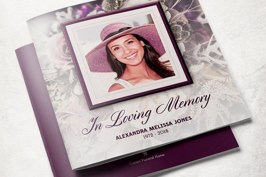 Purple Rose Funeral Program Template (1)