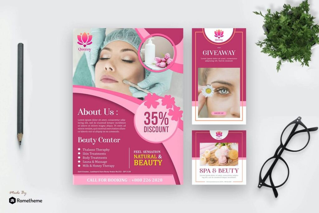 Quenny - Spa and Beauty Template Pack HR