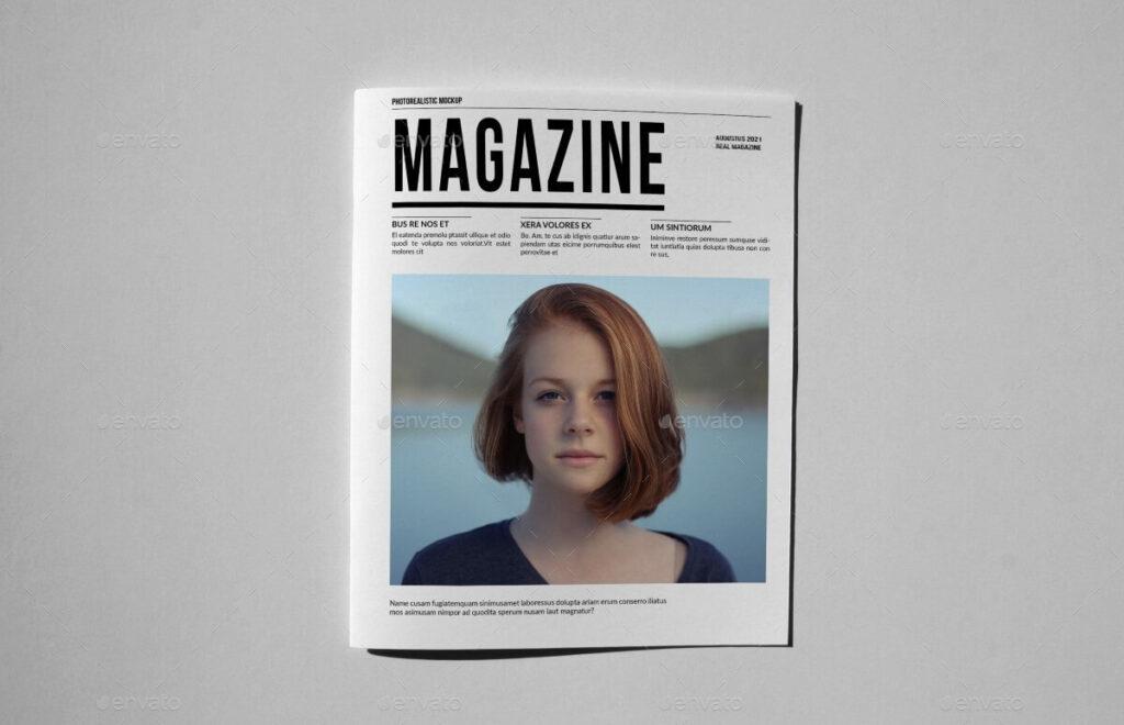 Realistic Magazine/Catalog Brochure Mockup