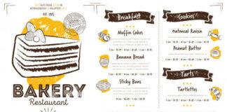 Restaurant cafe bakery menu template Premium Vector (1)