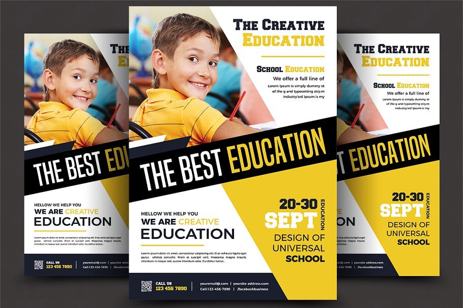 School Education Flyer Templates (1)