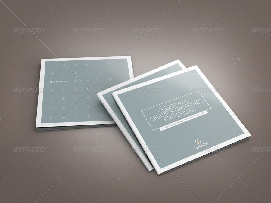 Sharp and Clean Square Indesign Brochure Template