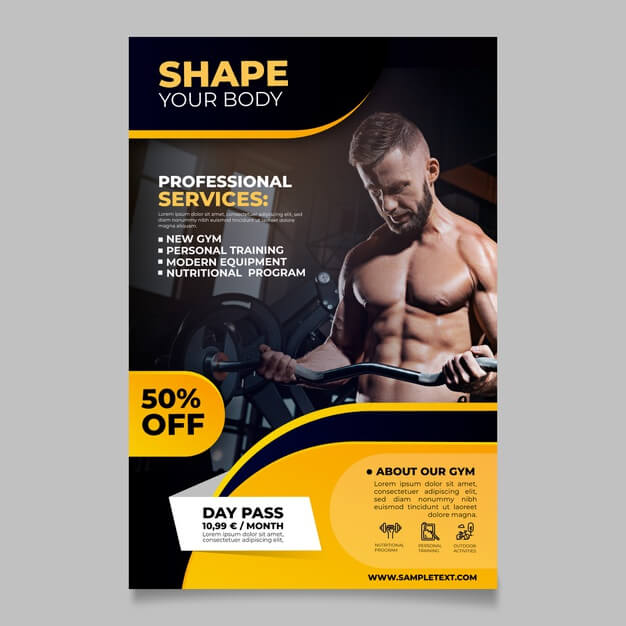 Sport brochure Free Vector