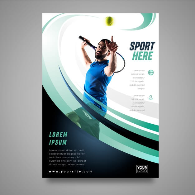 Sport brochure concept Free Vector (1)