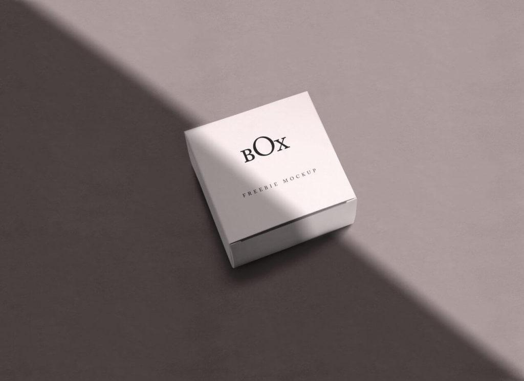 Free Elegant Square Box Mockups