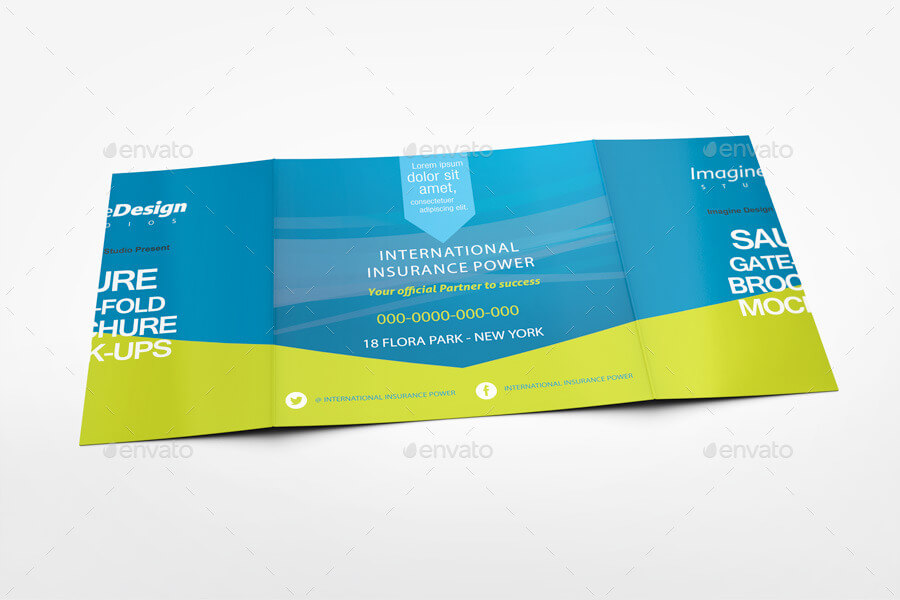 Square Gate Fold Brochure Mockup (1)