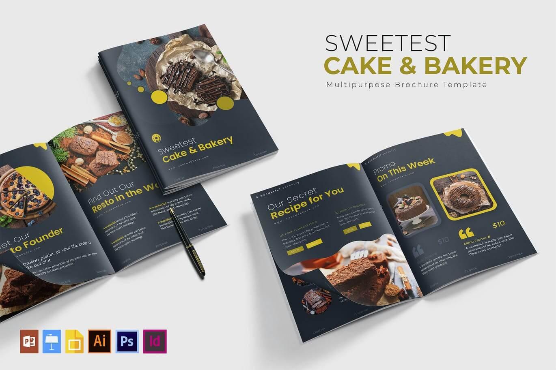 Sweetest Cake & Bakery Brochure Template (1)