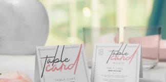 Table-card-mockup set
