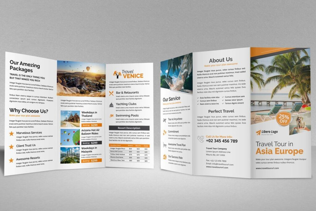 Travel Resort Trifold Brochure v4