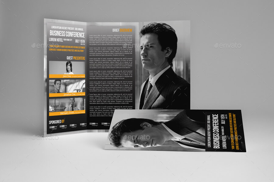 Trifold Business Conference Brochure Template (1)