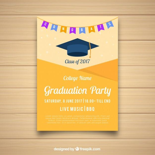 University party brochure Free Vector