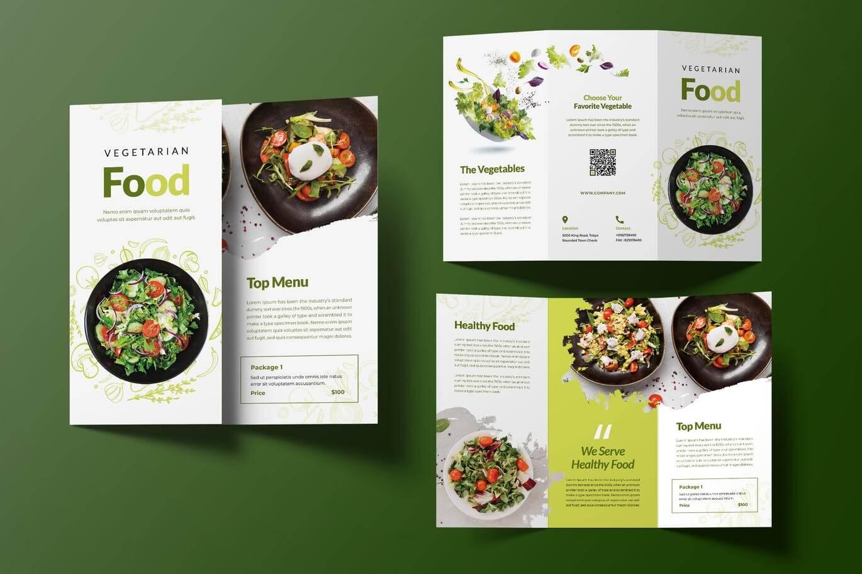 Vegetarian Food Trifold Brochure (1)