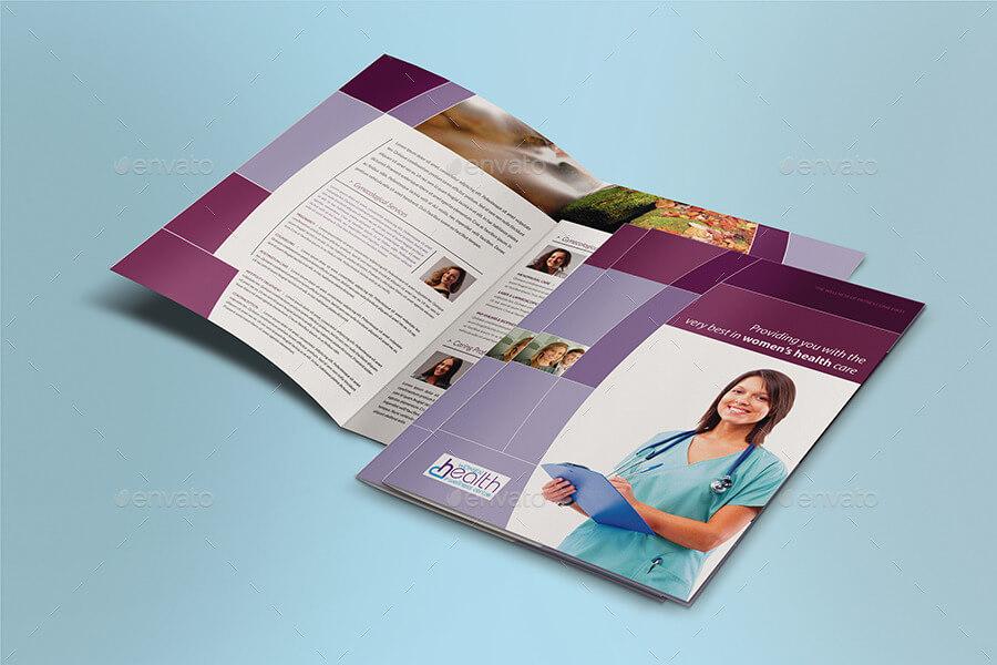 Women Health Care BI-FOLD Brochure Template (1)