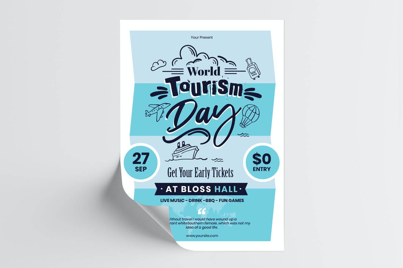 World Tourism Day Flyer Template (1)