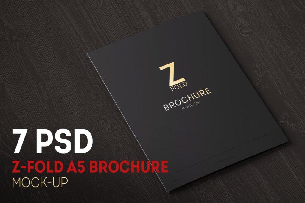Z-Fold Brochure A5 Mock-up