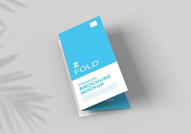 Z fold brochure mockup template Premium Psd2