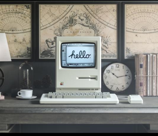 Free 1984 Apple Macintosh Mockup PSD Template