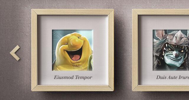 frame-framework-gallery-slider-vintage-retro-psd template