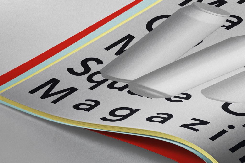 Free Open Square Magazine Mockup PSD Template