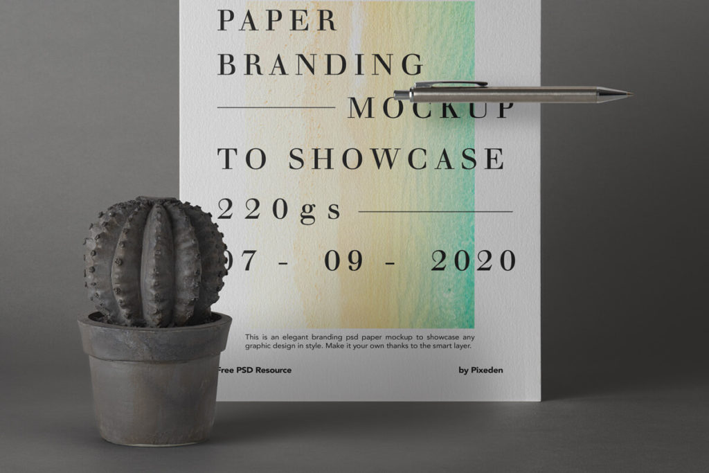 Free US Letter Brand Paper Mockup Template