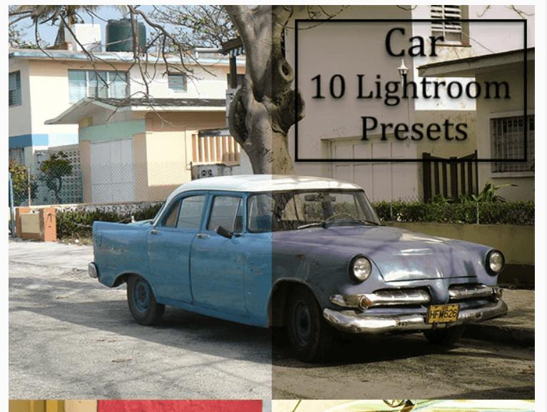 10 Car Lightroom Presets