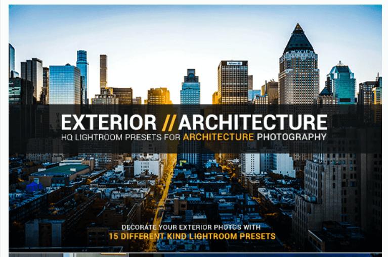 15 Exterior Architecture Lightroom Presets