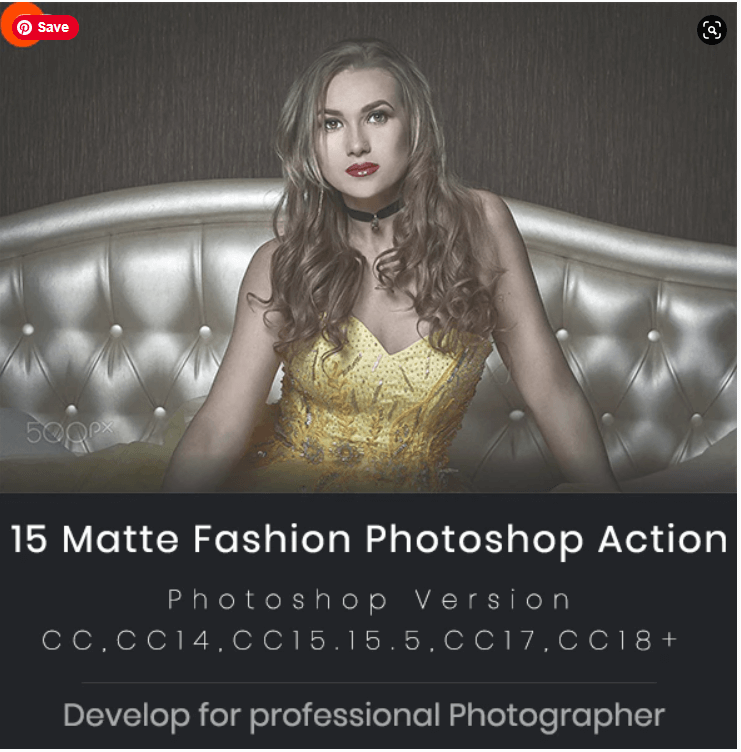 15 Matte Fashion Photoshop Action