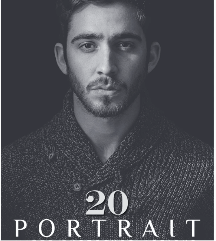 20 Portrait Matte Photoshop Actions