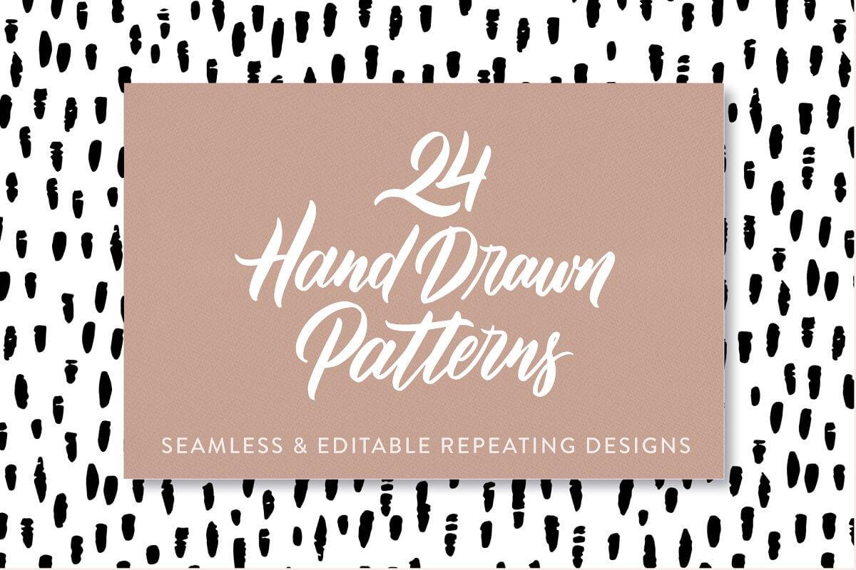 24 Hand Drawn Seamless Patterns (1)