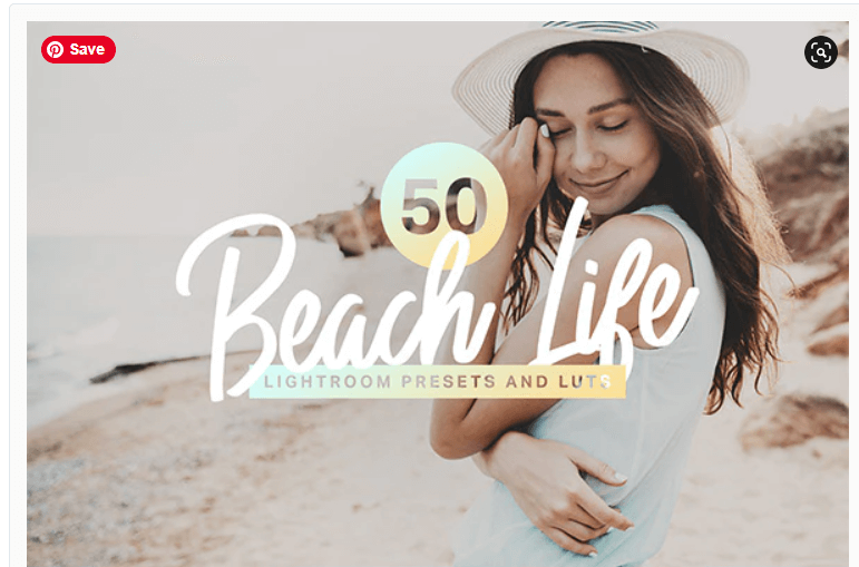 50 Beach Life Lightroom Presets and LUTs