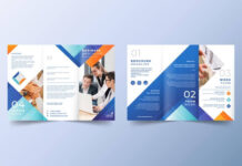 Abstract trifold brochure template with photo Free Vector (1)