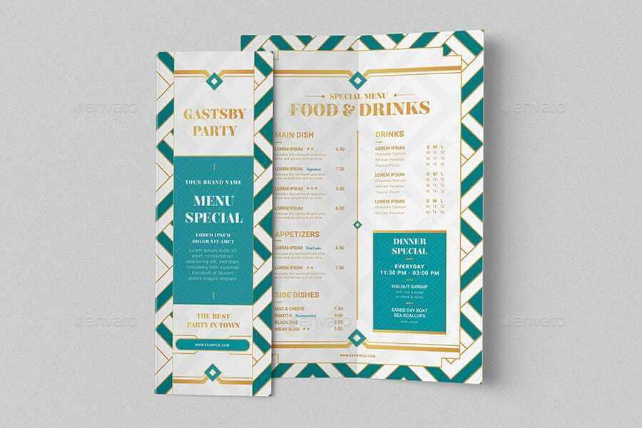 Art Deco Bi-Fold Menu Template (1)