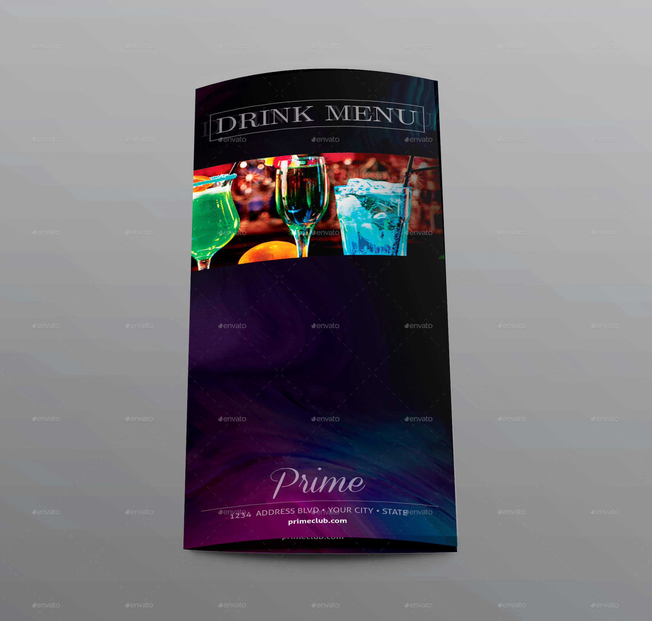 Bar Menu Flyer Bi-fold Menu Template (1)