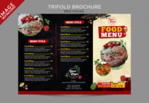 Bbq house food menu outside brochure series Premium Psd (1)