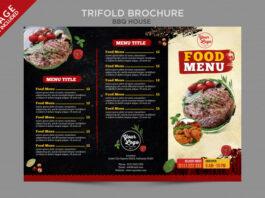 Bbq house food menu outside brochure series Premium Psd (1)