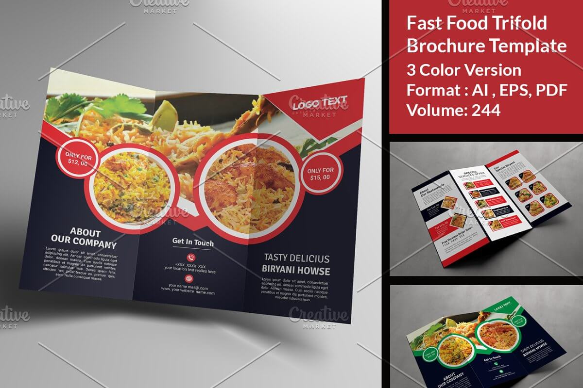 Biryani Food Trifold Templates Menu (1)