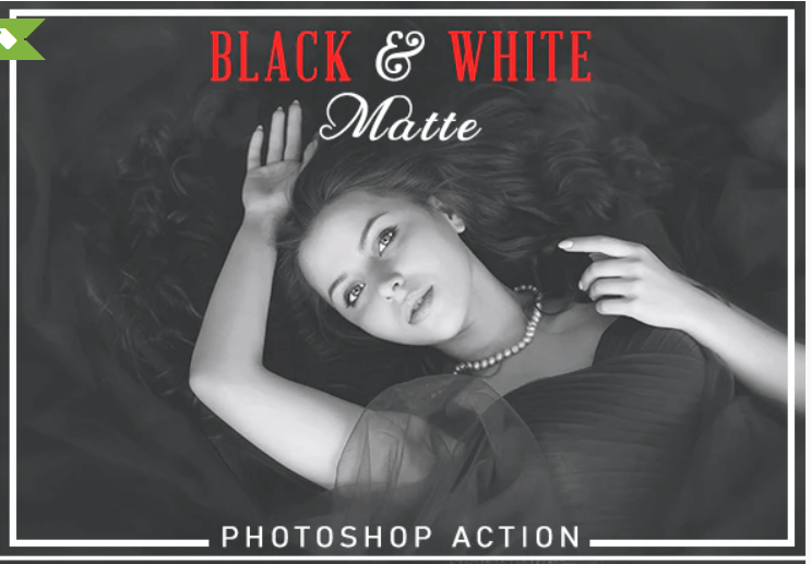 Black & White Matte Photoshop Action.
