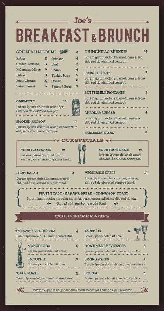 Breakfast & Brunch Menu