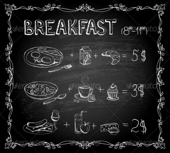 Breakfast Chalkboard Menu (1)