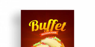 Buffet flyer or menu design with discount offer. Premium Vector (2)