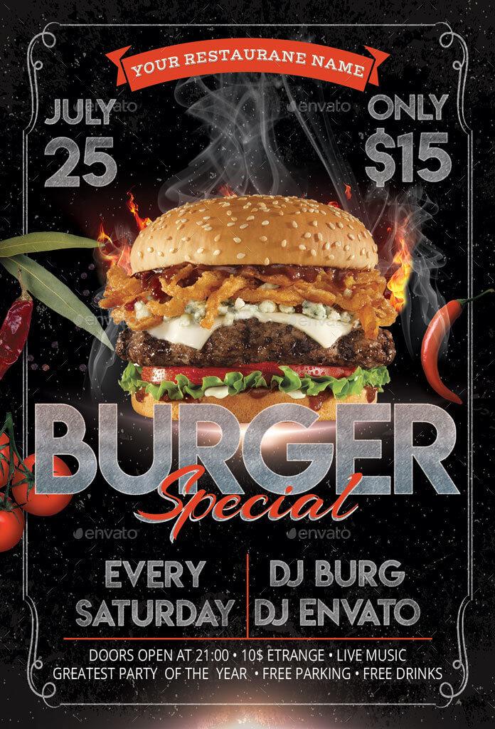 Burger Flyer + Menu (3)