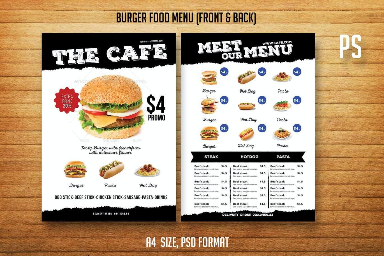 Burger Food Menu Menu (1)