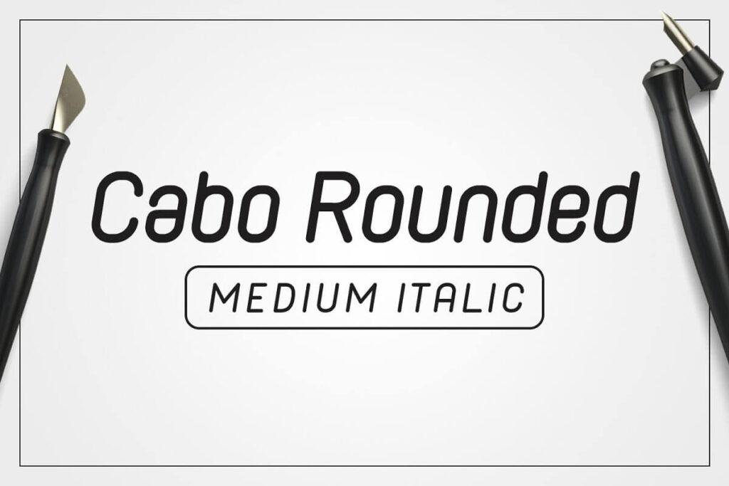 Cabo Rounded Medium Italic