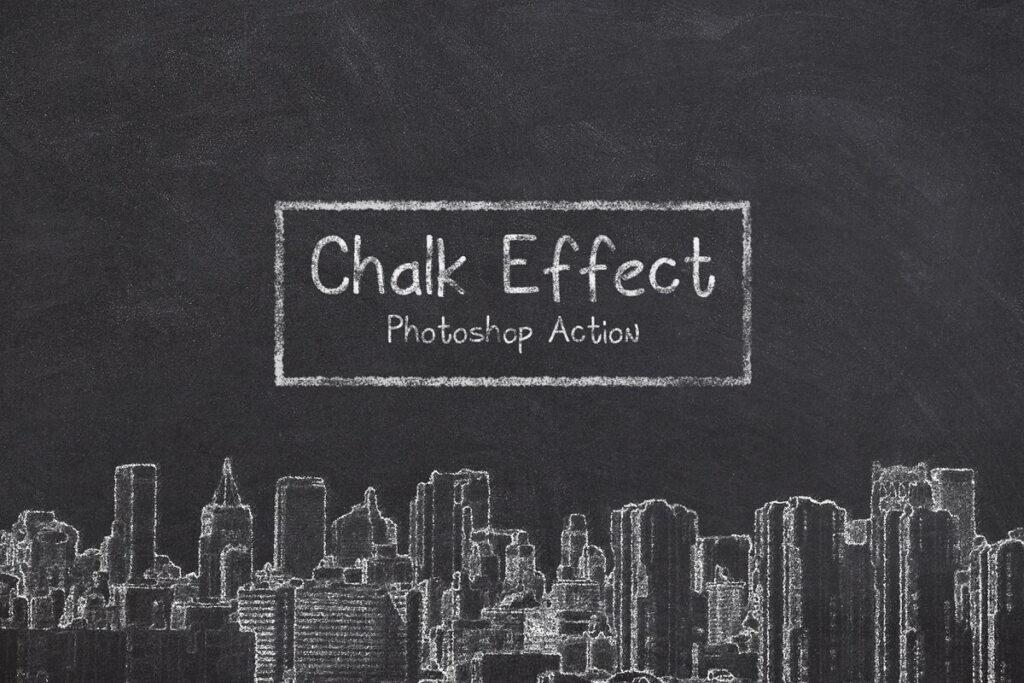 Chalk Effect Photoshop Action1