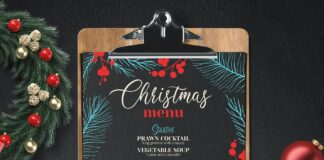 Christmas Dinner Party Menu